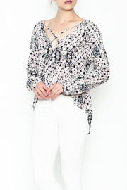 Olivaceous Kaleidoscope Print Blouse - Front cropped