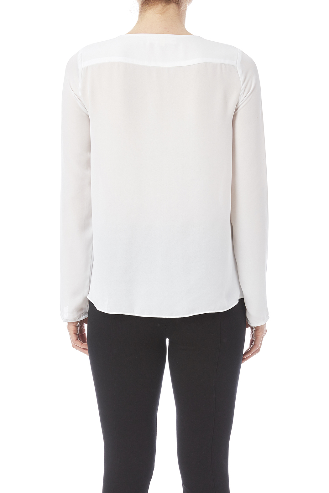 Olivaceous Notched Long Sleeve Blouse 6