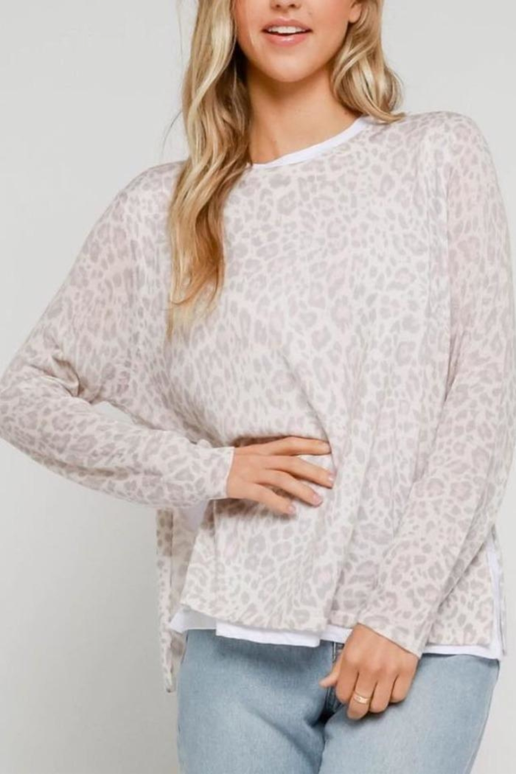 Olivaceous Layered Leopard Top - Main Image