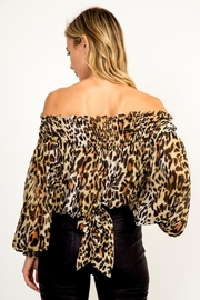Olivaceous Leopard Blouse - Front full body