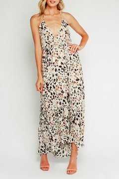 Shoptiques Product: Leopard Halter Maxi-Dress