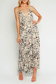 Olivaceous Leopard Halter Maxi-Dress - Product Mini Image