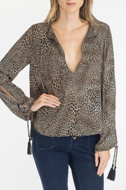 Olivaceous Leopard Keyhole Top - Product Mini Image