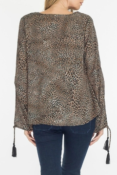 Olivaceous Leopard Keyhole Top - Alternate List Image