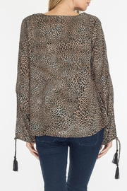 Olivaceous Leopard Keyhole Top - Side cropped