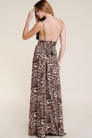 Olivaceous Leopard Lace Maxi-Dress - Front full body