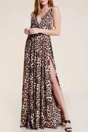 Olivaceous Leopard Lace Maxi-Dress - Product Mini Image