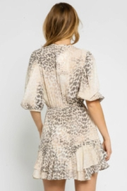 Olivaceous Leopard Print Dress - Front full body