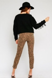 Olivaceous Leopard Print Pants - Front full body