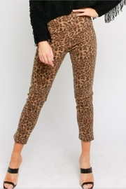 Olivaceous Leopard Print Pants - Product Mini Image