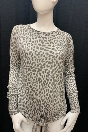 Olivaceous Leopard Print Sweater - Front cropped