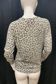 Olivaceous Leopard Print Sweater - Front full body