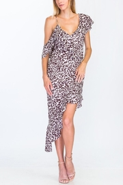 Olivaceous Leopard Ruffle Dress - Product Mini Image