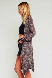 Olivaceous Light Camo Cardigan - Front full body