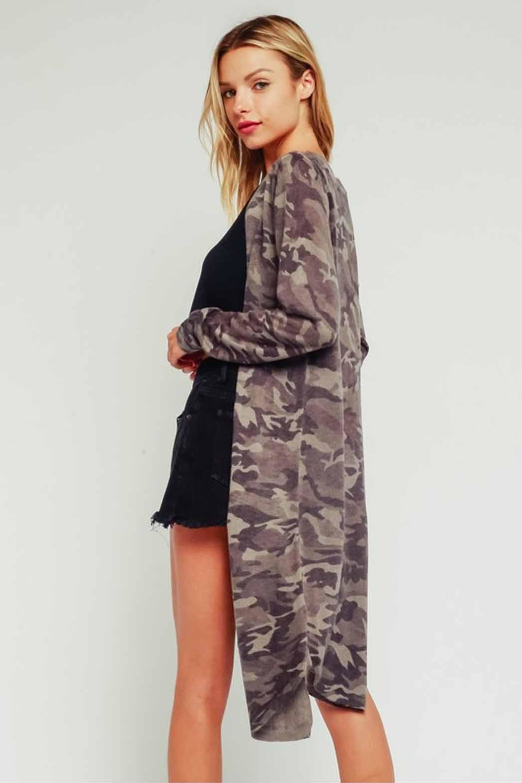 Olivaceous Light Camo Cardigan - Side Cropped Image