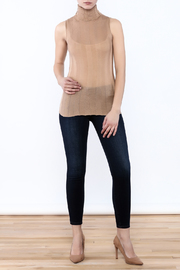 Olivaceous Lightweight Turtleneck Tank - Front full body