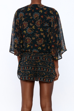 Shoptiques Product: Long Sleeve Printed Romper