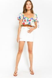 Olivaceous Multicolored Floral Crop-Top - Product Mini Image