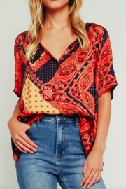 Olivaceous Multicolored Tapestry Blouse - Product Mini Image