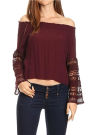 Olivaceous Off Shoulder Blouse - Product Mini Image