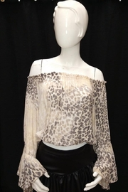 Olivaceous Off-Shoulder Leopard Top - Product Mini Image