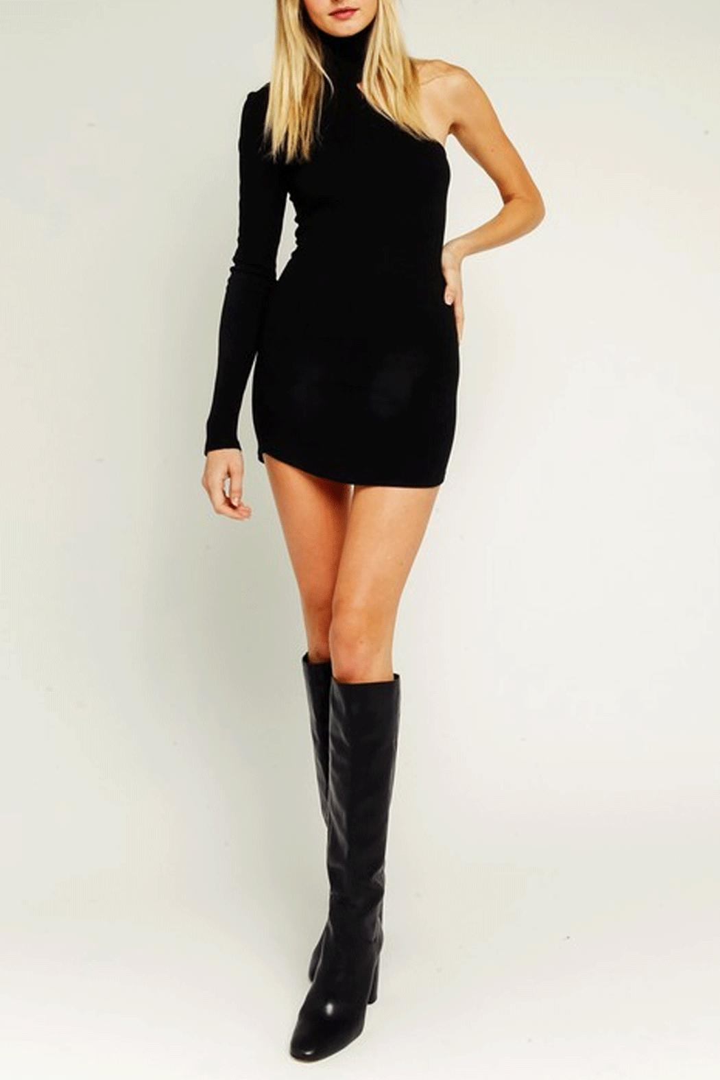 Olivaceous One-Shoulder Bodycon Dress - Main Image