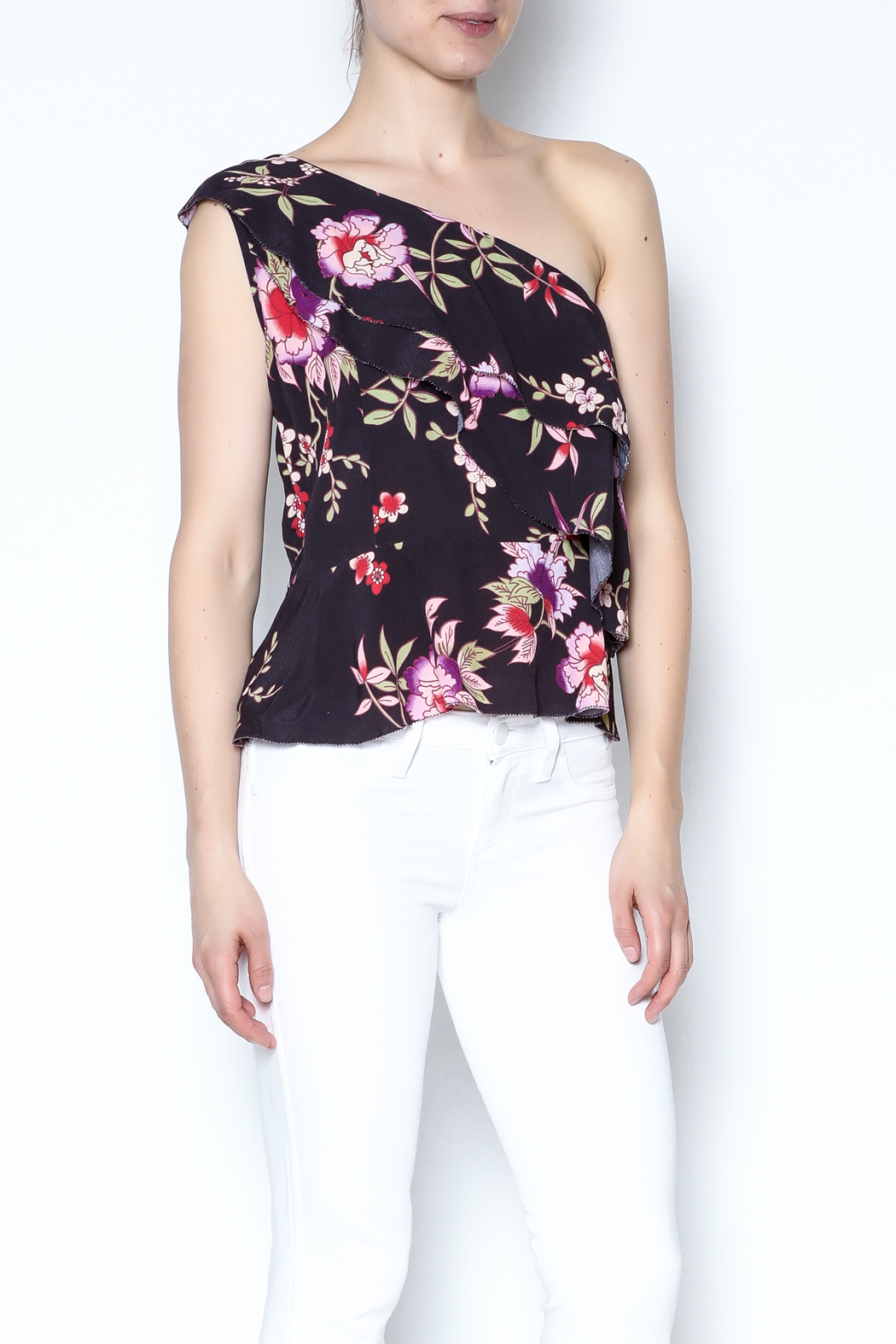 Olivaceous One Shoulder Top - Main Image