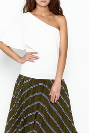 Olivaceous One Shoulder Top - Front cropped