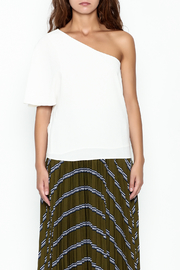 Olivaceous One Shoulder Top - Front full body