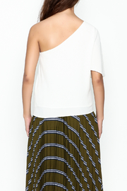 Olivaceous One Shoulder Top - Back cropped