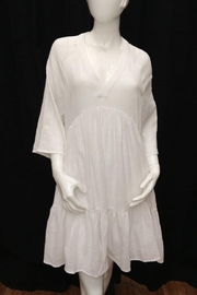 Olivaceous Optic-White Cotton Dress - Product Mini Image