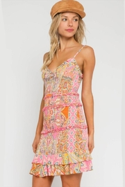 Olivaceous Paisley Pink Body-Con - Product Mini Image