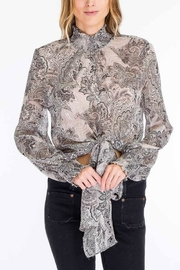 Olivaceous Paisley Tie Top - Product Mini Image