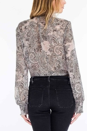 Olivaceous Paisley Tie Top - Front full body