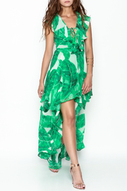 Olivaceous Palm Leaf Dress - Product Mini Image