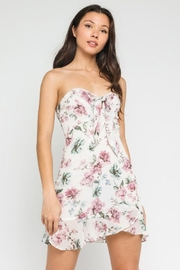Olivaceous Pastel Floral Sweetheart Dress - Product Mini Image