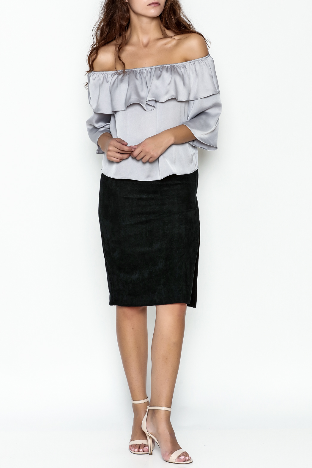Olivaceous Pencil Skirt - Side Cropped Image