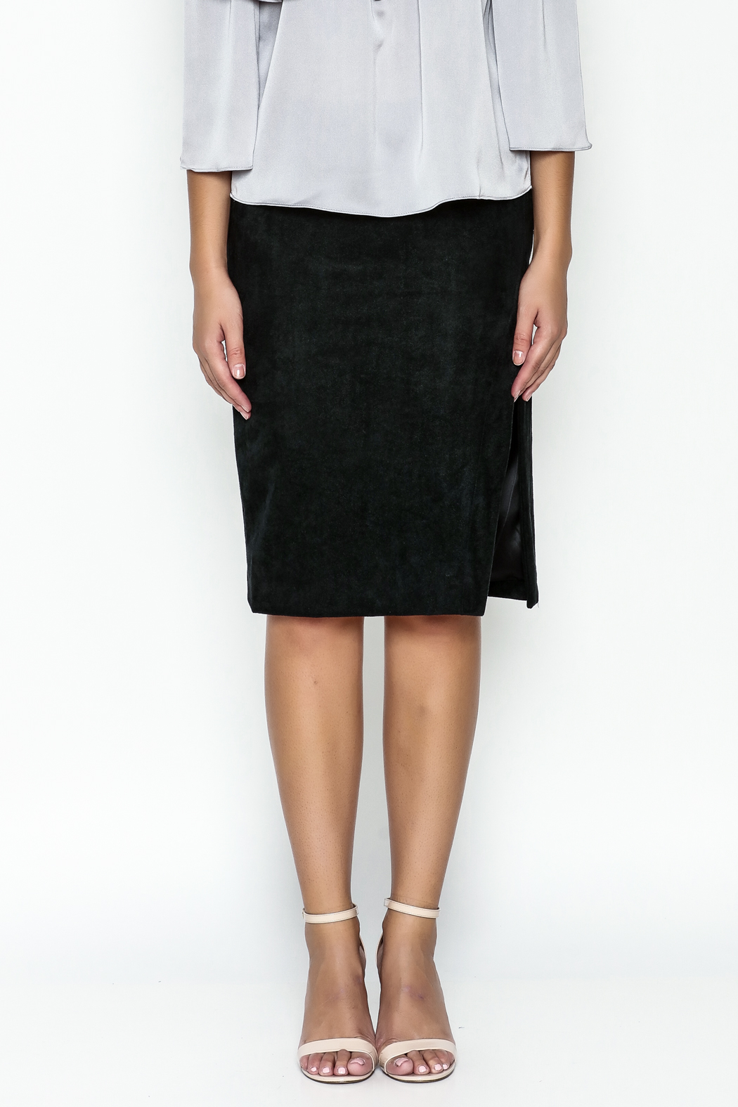 Olivaceous Pencil Skirt - Front Full Image