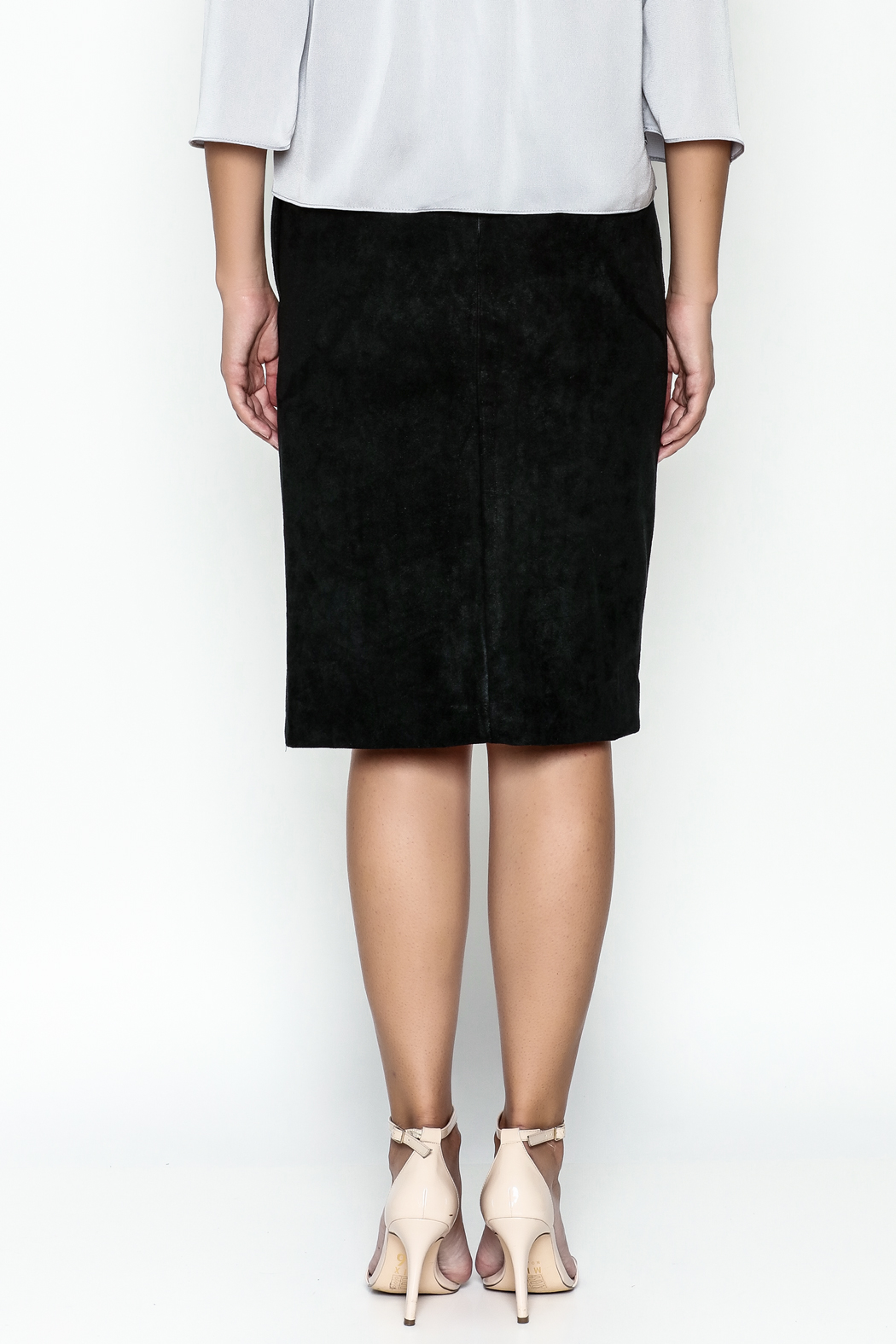 Olivaceous Pencil Skirt - Back Cropped Image