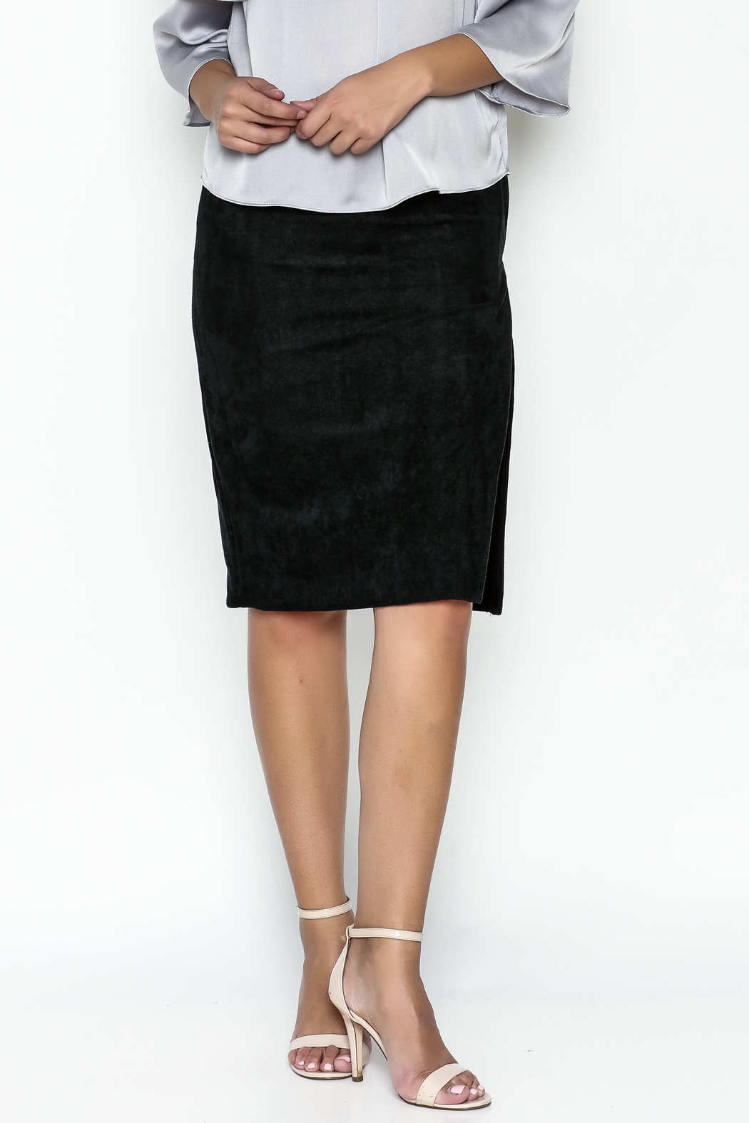 Olivaceous Pencil Skirt - Main Image