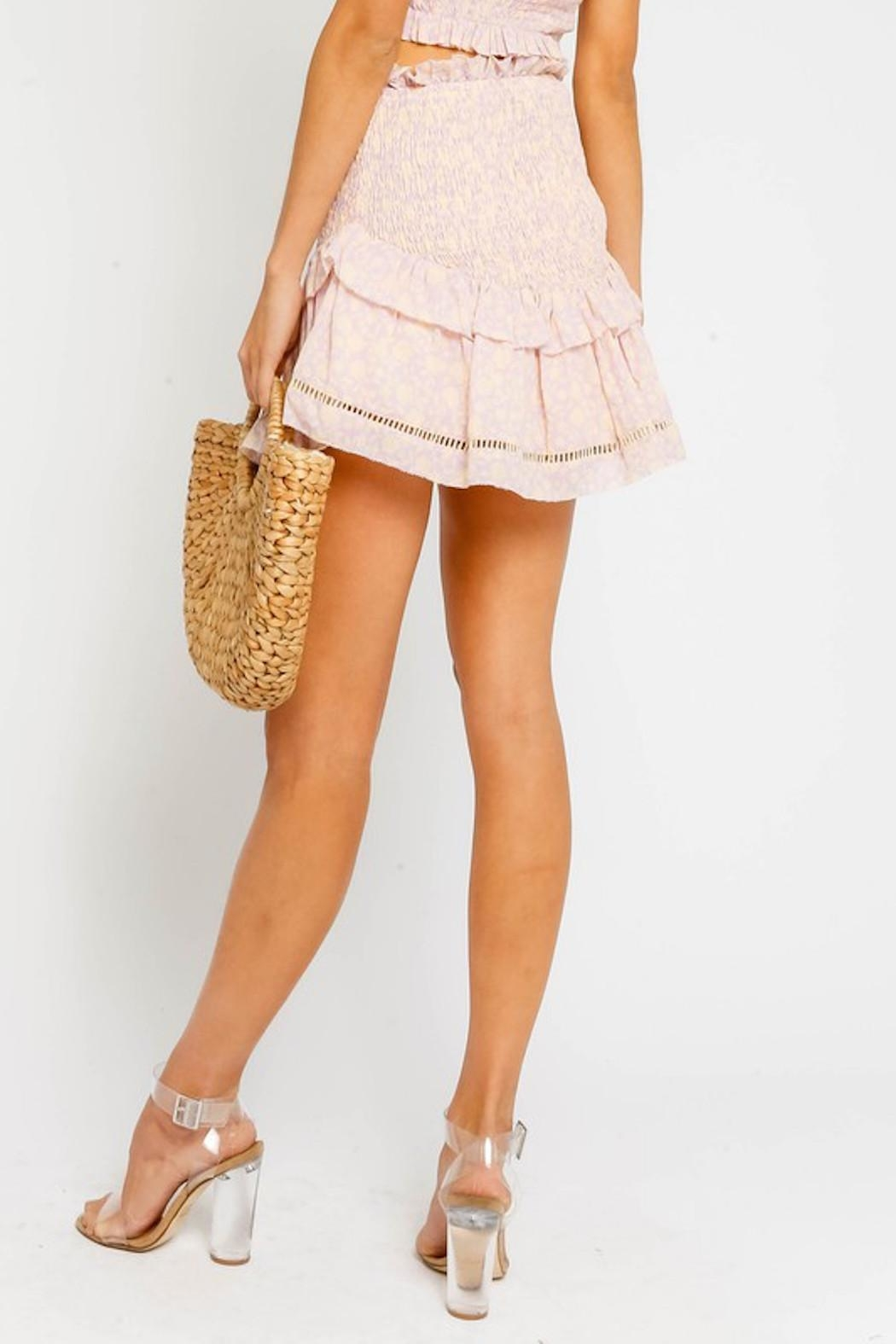 Olivaceous Pink Smock Skirt - Side Cropped Image