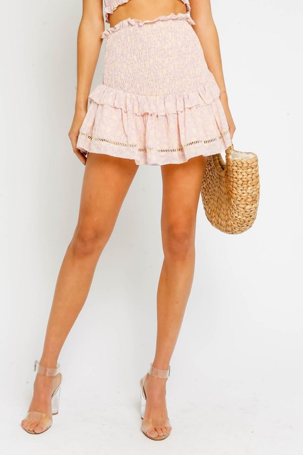 Olivaceous Pink Smock Skirt - Front Full Image