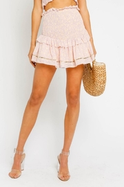 Olivaceous Pink Smock Skirt - Front full body