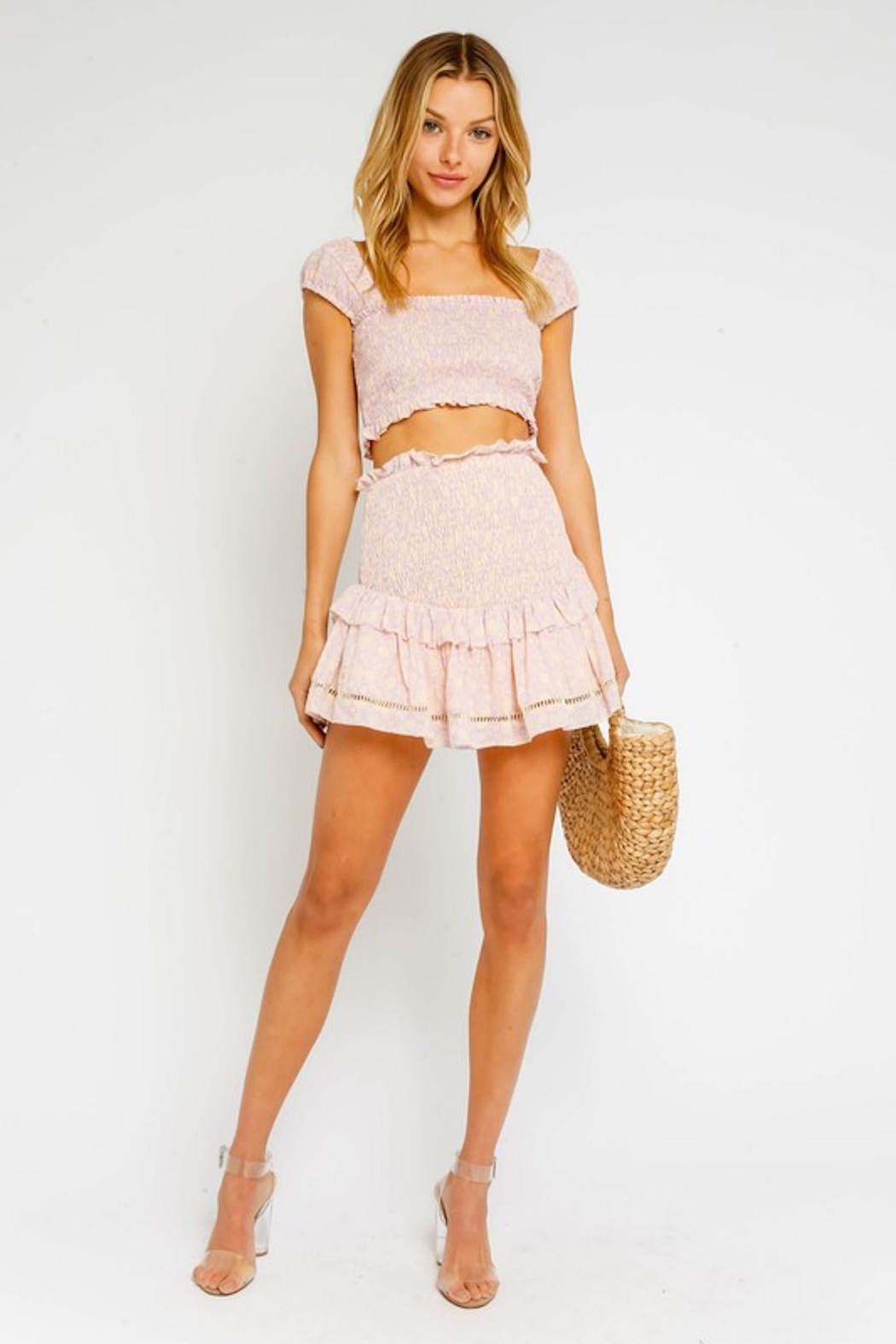 Olivaceous Pink Smock Skirt - Main Image