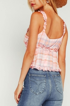 Olivaceous Plaid Ruffle Top - Alternate List Image