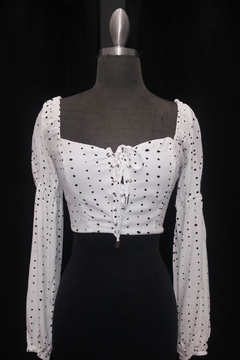 c6191bd93e ... Olivaceous Polkadot Crop Top - Product List Image