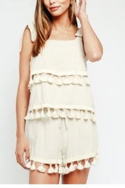 Olivaceous Pompom Tank - Front cropped