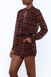 Olivaceous Printed Romper - Product Mini Image