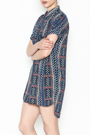 Olivaceous Printed Shirt Dress - Front cropped