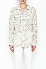 Olivaceous Python Lace Up Top - Front full body